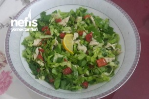 Tavuklu Köz Biberli Salata (Diyet Salatam) Tarifi