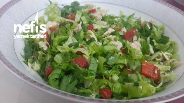 Tavuklu Köz Biberli Salata(diyet Salatam)