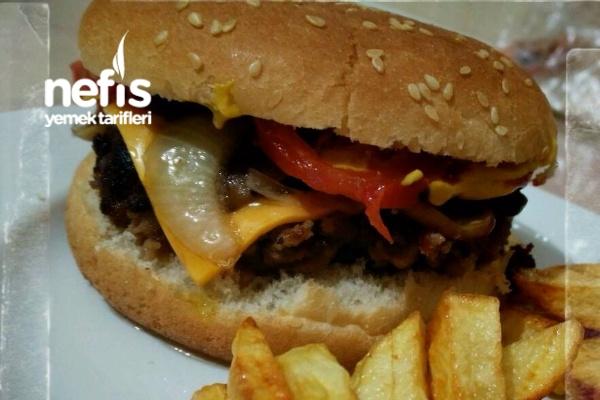 Evde Mushroom Swiss Burger Tarifi