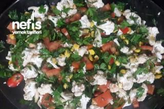 Çiğ Karnabahar Salatası Tarifi