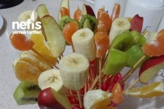 Renkli Meyve Sunumum Tarifi