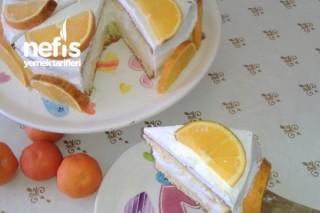 Kış Pastası (Portakallı Yaş Pasta) Tarifi