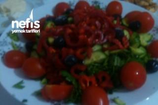 Kırmızı Yeşil Ekşili Salatam Tarifi