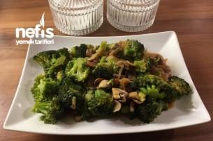 Brokoli Mantar Sote Tarifi