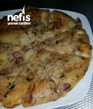 Yumurtasiz Patates Ve Sosisli Tortilla