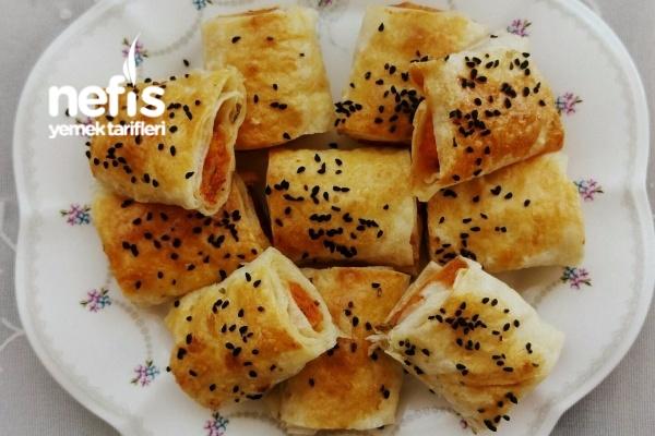 Patatesli Peynirli Gevrek Kare Börek Tarifi