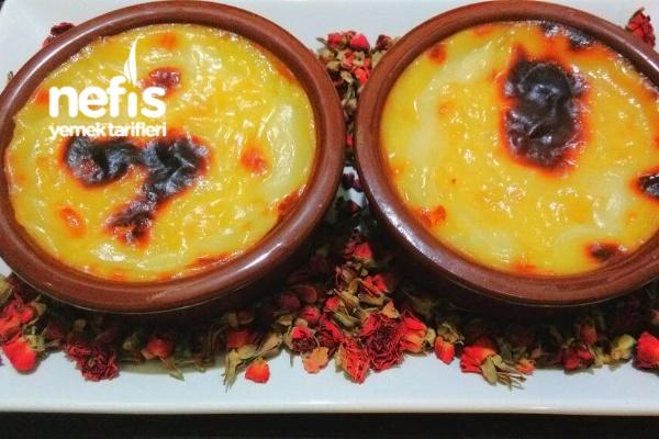 Portakal Sulu Fırın Sütlaç Tarifi