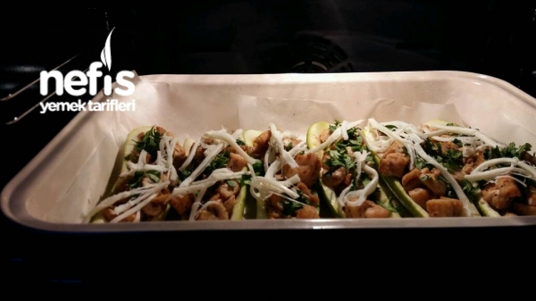 Diyet Yemeklerim 2) Mantarli Kabak Sandali