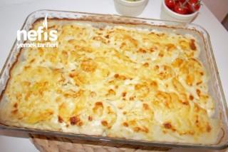 Fırında Kremalı Patates (Kartoffelgratin) Tarifi