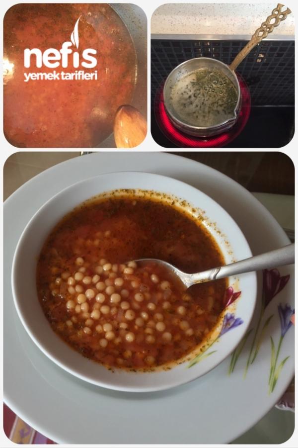 Domatesli Kuskus Çorbası