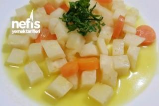 Portakallı Zeytinyağlı Küp Kereviz Yemeği Tarifi