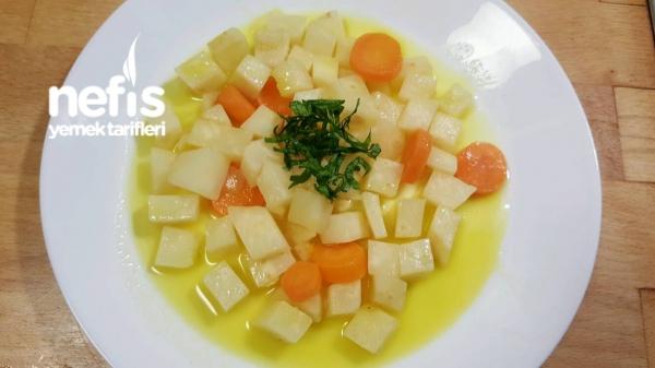 Portakallı Zeytinyağlı Küp Kereviz Yemeği