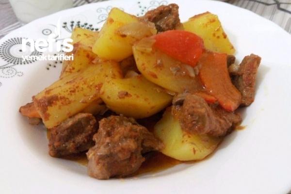 Fırın Poşetinde Etli Patates Tarifi