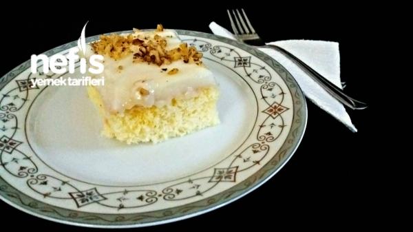 Pirinç Unu İle Kremalı Yumuşak Pasta