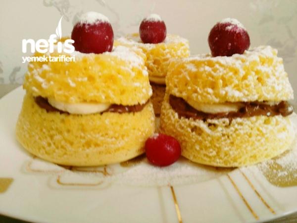 Çok Kolay Küçük Pandispanya Pastalar