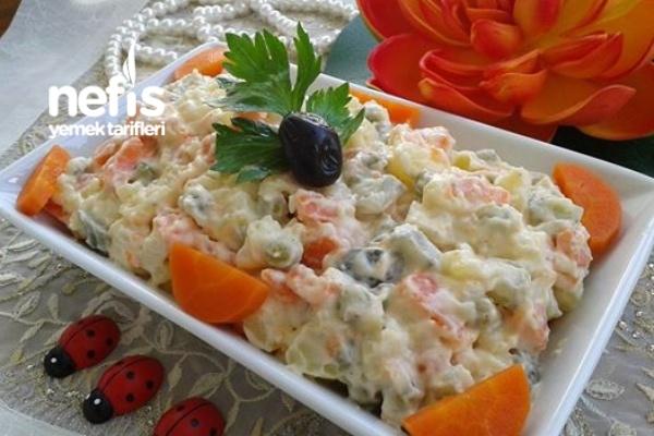 Rus Salatası Tarifi - Mutfak Gülü - Nefis Yemek Tarifleri