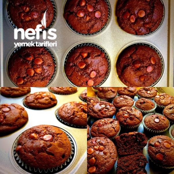 Çikolatalı Islak Kapkek (double Chocolate Muffins)