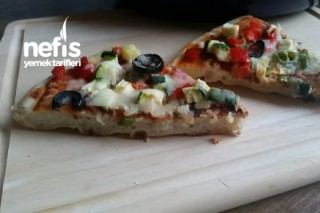 Tavada Pratik Kıtır Pizza Tarifi