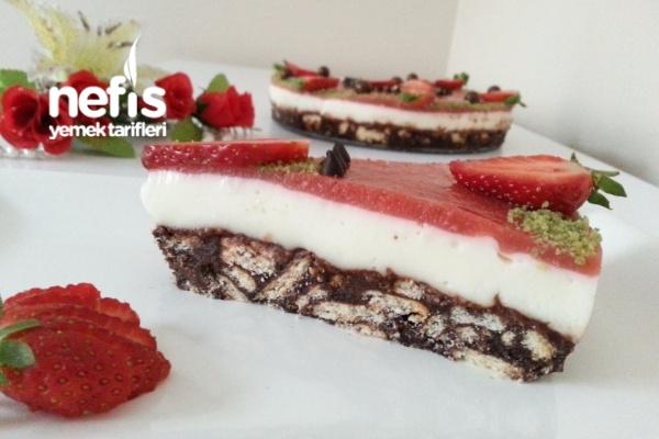 Meyveli Muhallebili Mozaik Pasta (videolu) Tarifi