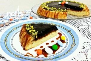 Çikolatalı Karamelli Tart Kek Tarifi