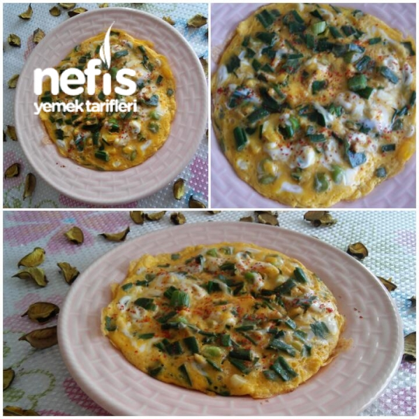 Yeşil (Taze) Soğanlı Omlet