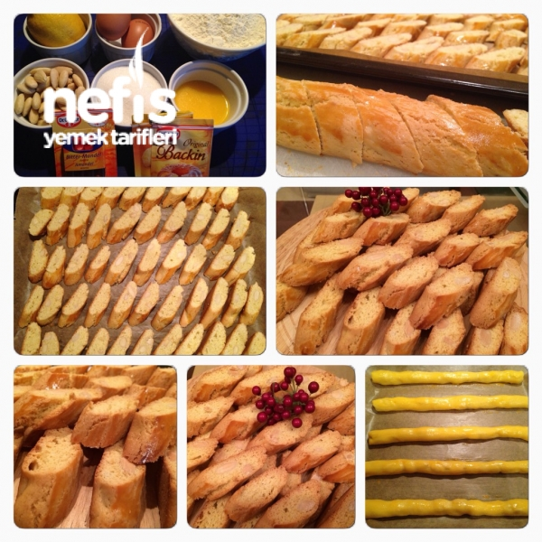Cantuccini (biscotti Di Prato) (bademli İtalyan Kurabiyesi