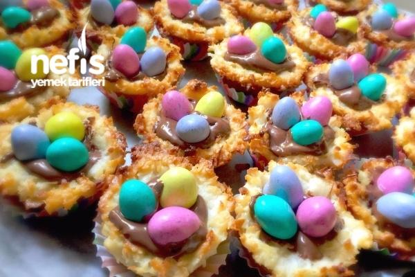 Hindistancevizli Kuş Yuvası (Easter Egg Nest)