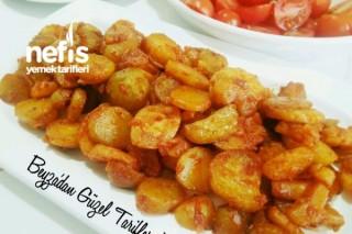 Karamelize Soğanlı Haşlama Patates Kızartması Tarifi