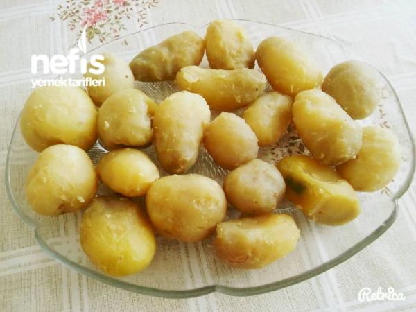 Karamelize Soğanlı Haşlama Patates Kızartması