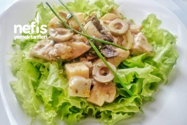 Dubok Salatası ( Tavuklu, Mantarlı, Zeytinli) Tarifi