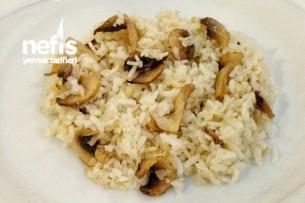 Tereyağlı Mantarlı Pirinç Pilavı Tarifi