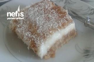 Kalan Elmalı Pasta İçinden Sütlü Tatlı Tarifi