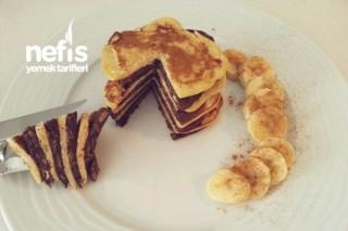 2 Malzemeli Muzlu Pankek / Pancake (Diyet) Tarifi