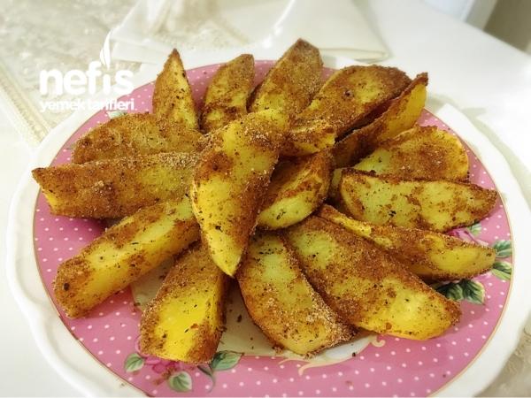 Fırında Çıtır Patates Dilimleri
