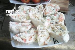Lavaş Salatı Rulo Salat (Azerbaycan Metbexi) Tarifi
