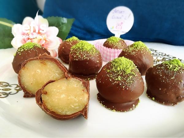 Çikolata Kaplı Sütlü Un Helvası(minik İkramlıklar)