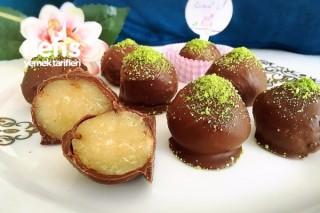Çikolata Kaplı Sütlü Un Helvası (Minik İkramlıklar) Tarifi