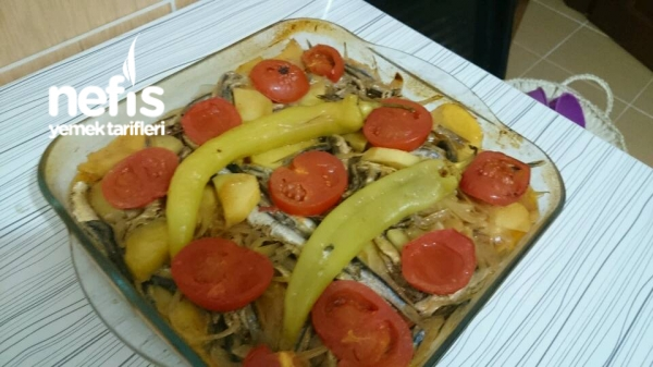 Fırında Hamsili Patates Yemeği