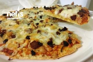 Bazlamadan Pratik Pizza (Kahvaltılık Ani Misafire) Tarifi