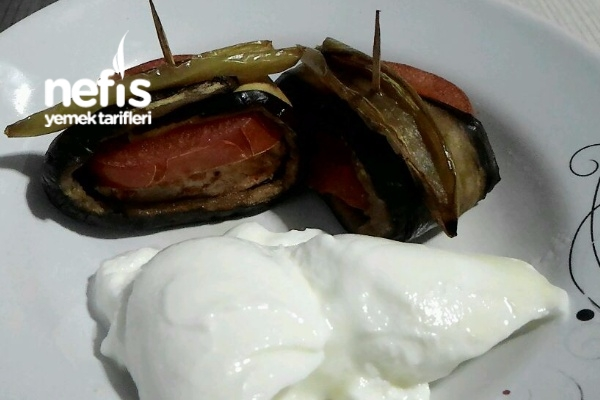 Fırında Tavuklu Patlıcan Sarma