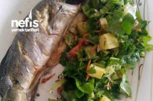 Fırında Levrek Ve Patates Salatası Tarifi