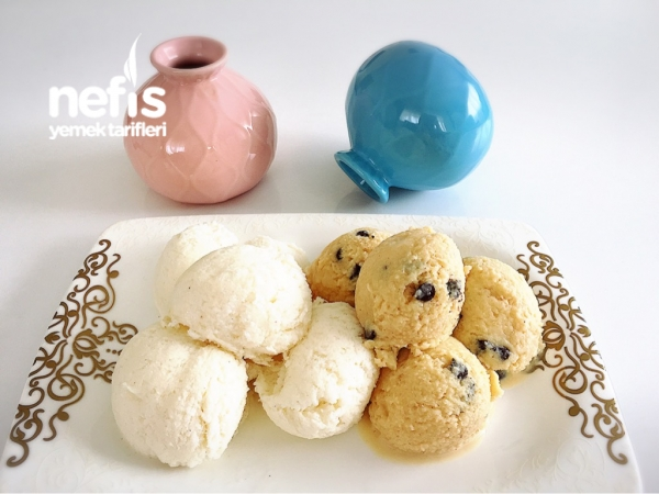 Ev Yapımı Gerçek Dondurma(vanilyalı-karamelli)