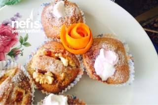 Karışık Muffinler (Elmalı Tarçınlı Ve Portakallı Marshmallowlu) Tarifi
