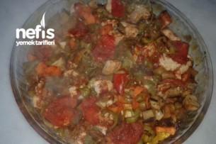Fırında Patlıcanlı Tavuk Tarifi