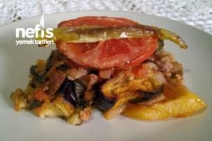 Patatesli Patlıcan Oturtma ( Kızartmadan ) Tarifi