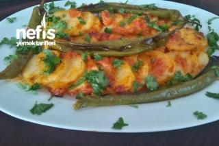 Fırında Kremalı Domates Soslu Patates Dizmesi Tarifi