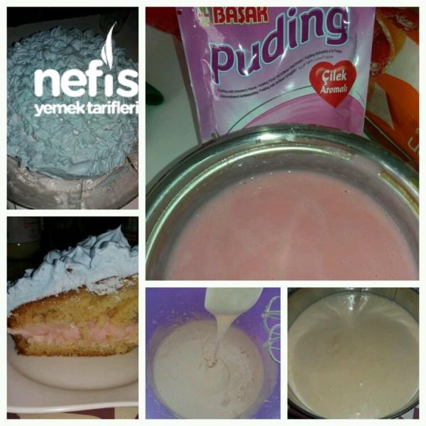 Pudingli Yaş Pasta Tarifi - Nefis Yemek Tarifleri