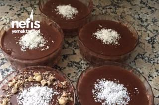 Bisküvili Pasta Tadında Çikolatalı Puding Tarifi