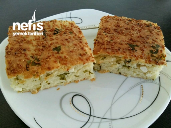 Şipşak Peynirli Tepsi Çöreği (Simit Tadında)