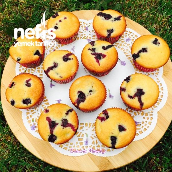Limonlu Yaban Mersinli Muffin